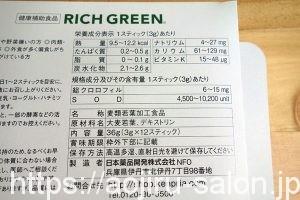 リッチグリーンの成分