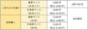 極の青汁の商品価格