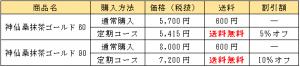 神仙桑抹茶ゴールドの価格