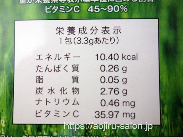青汁三昧の栄養素